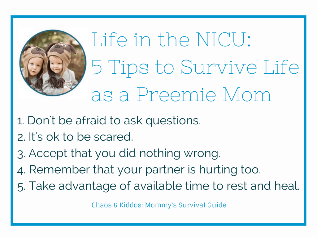Life in the NICU | Preemie Mom Tips | Chaos & Kiddos: Mommy's Survival Guide