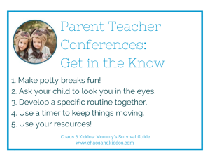 Parent Teacher Conferences | Get in the Know | Chaos & Kiddos: Mommy's Survival Guide
