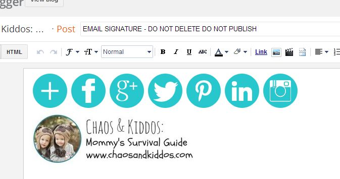 Hyper-Linked Email Signatures in Gmail | Chaos & Kiddos: Mommy's Survival Guid