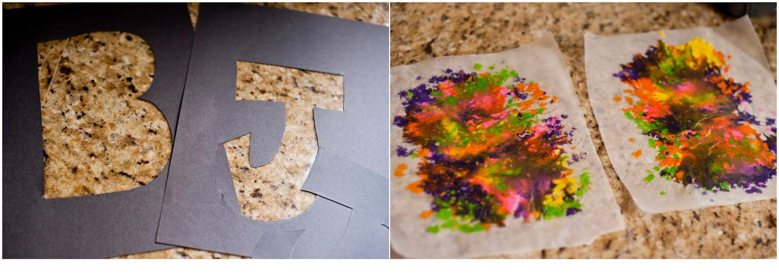 Think Outside the Toy Box Summer Series: Wax Paper Letter Art