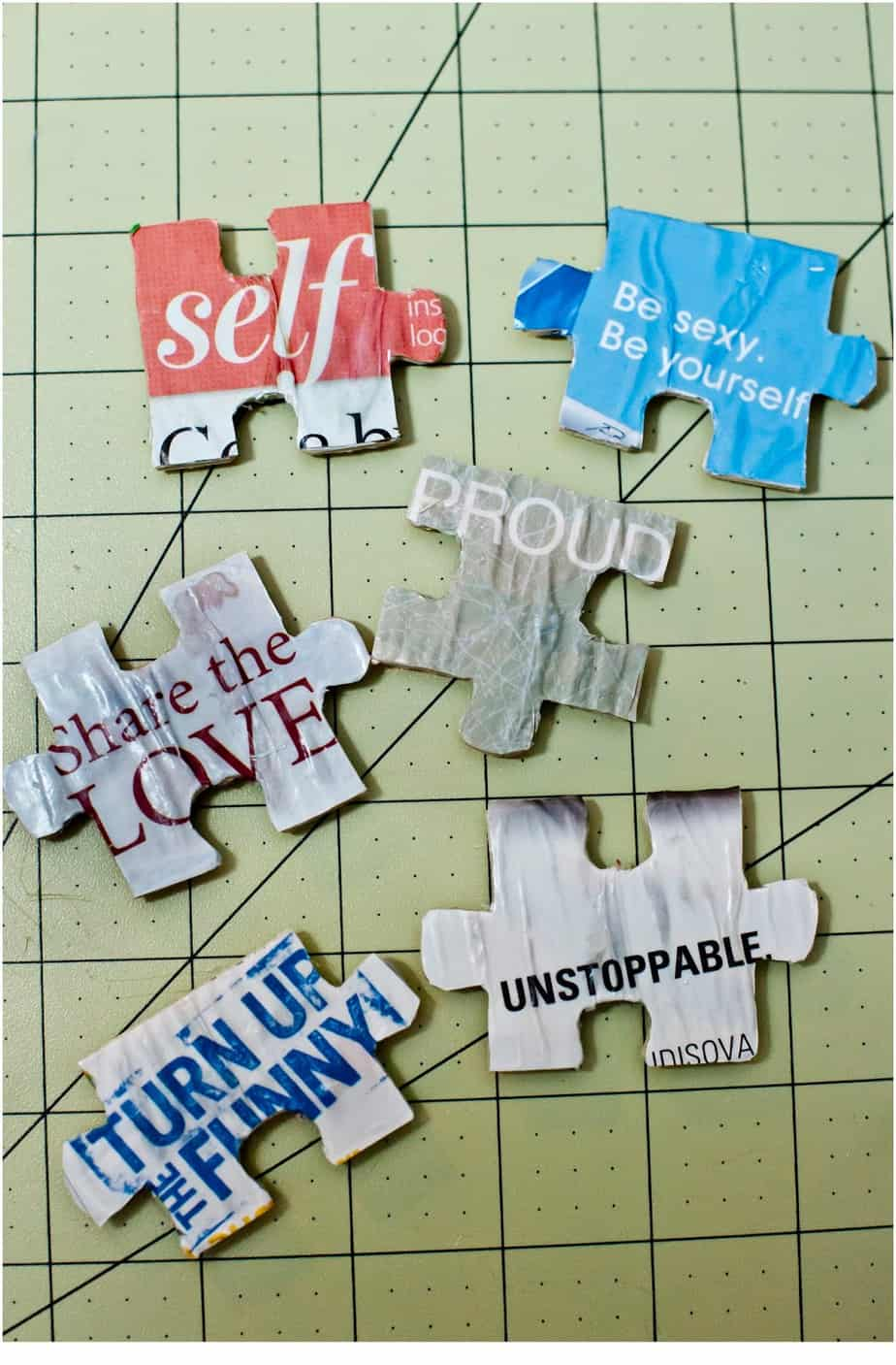 Think Outside the Toy Box Summer Series: Puzzle Piece Affirmation Magnets