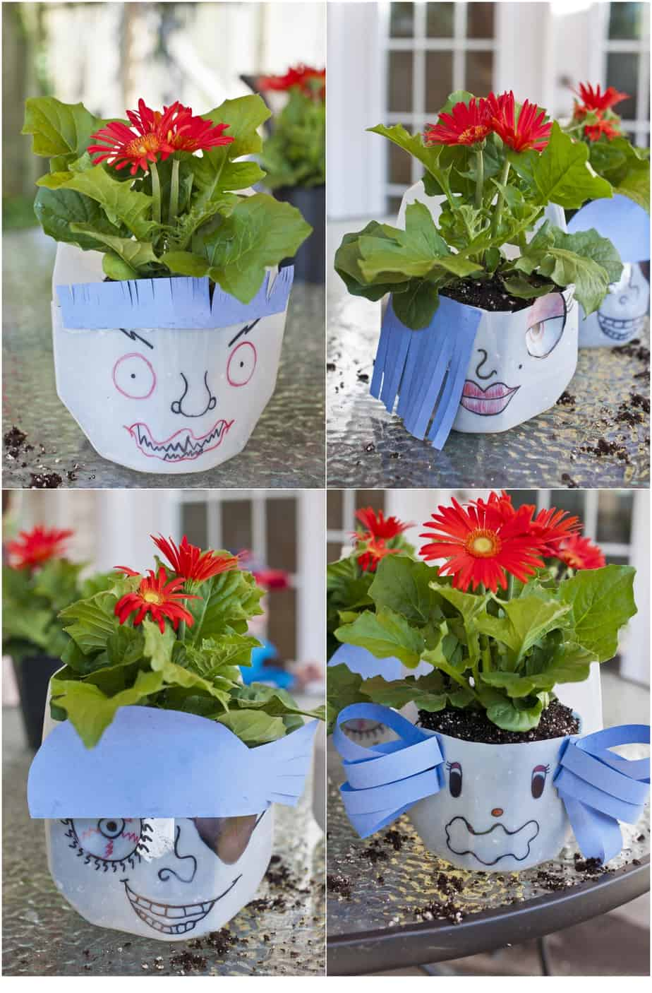 Think Outside the Toy Box | Funny Face Planters | Chaos & Kiddos