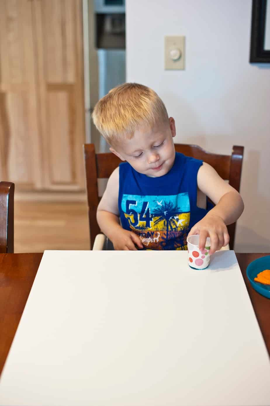 Think Outside the Toy Box Summer Series: Paper Cup Painting