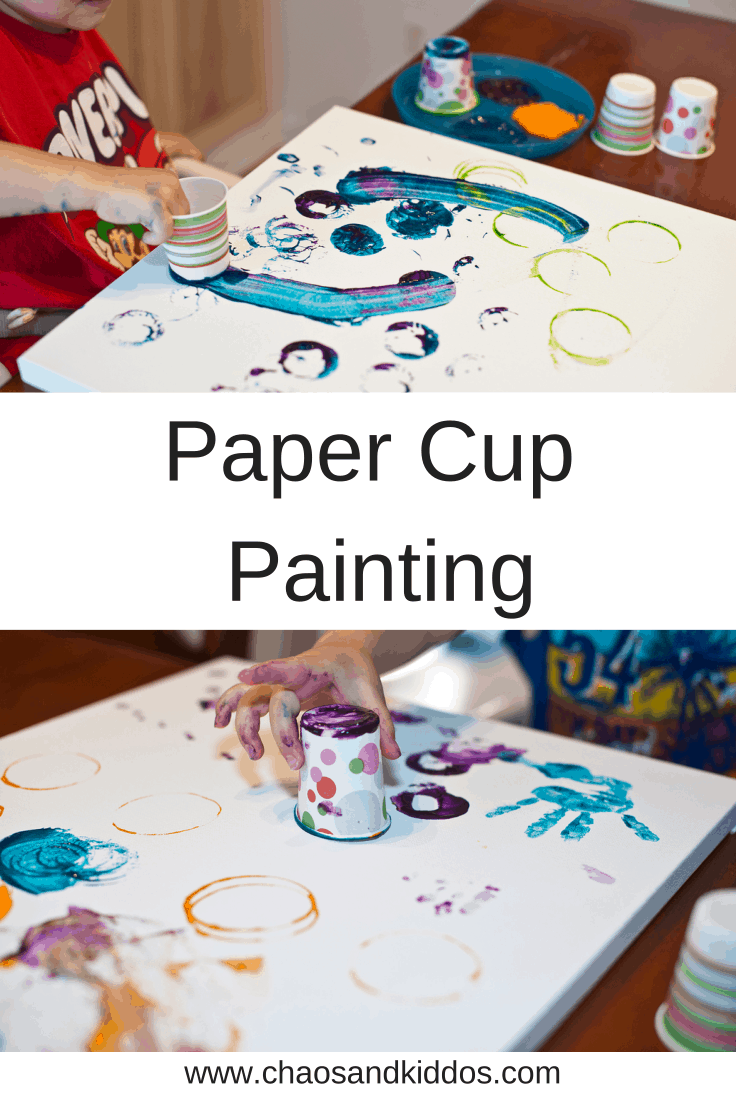 Think Outside the Toy Box | Paper Cup Painting | Chaos & Kiddos: Mommy's Survival Guide