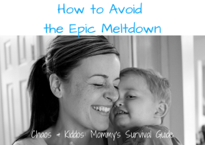 How to Avoid the Epic Meltdown | Chaos & Kiddos: Mommy's Survival Guide