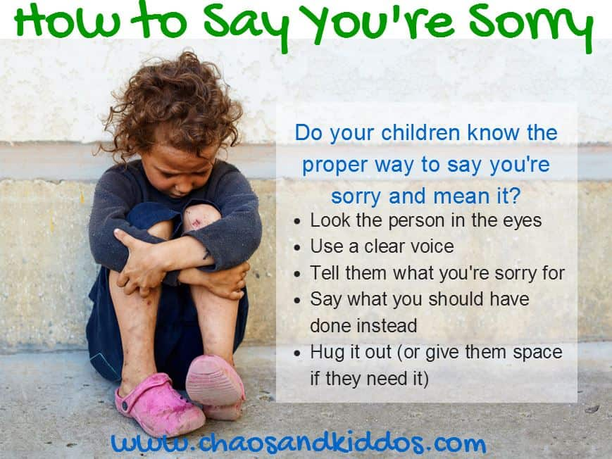 How to Say You're Sorry | Purposeful Parenting | Chaos & Kiddos: Mommy's Survival Guide