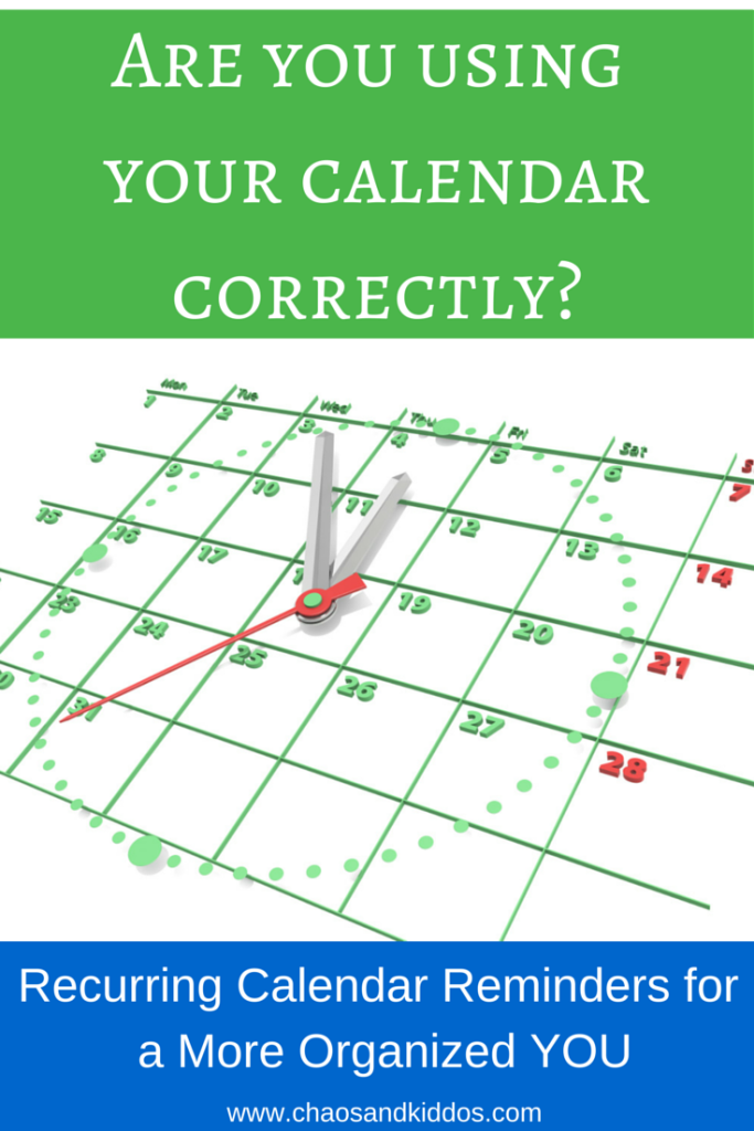 Recurring Calendar Reminders for a More Organized You