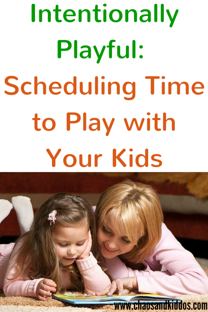 Scheduling Time to Play with Your Kids