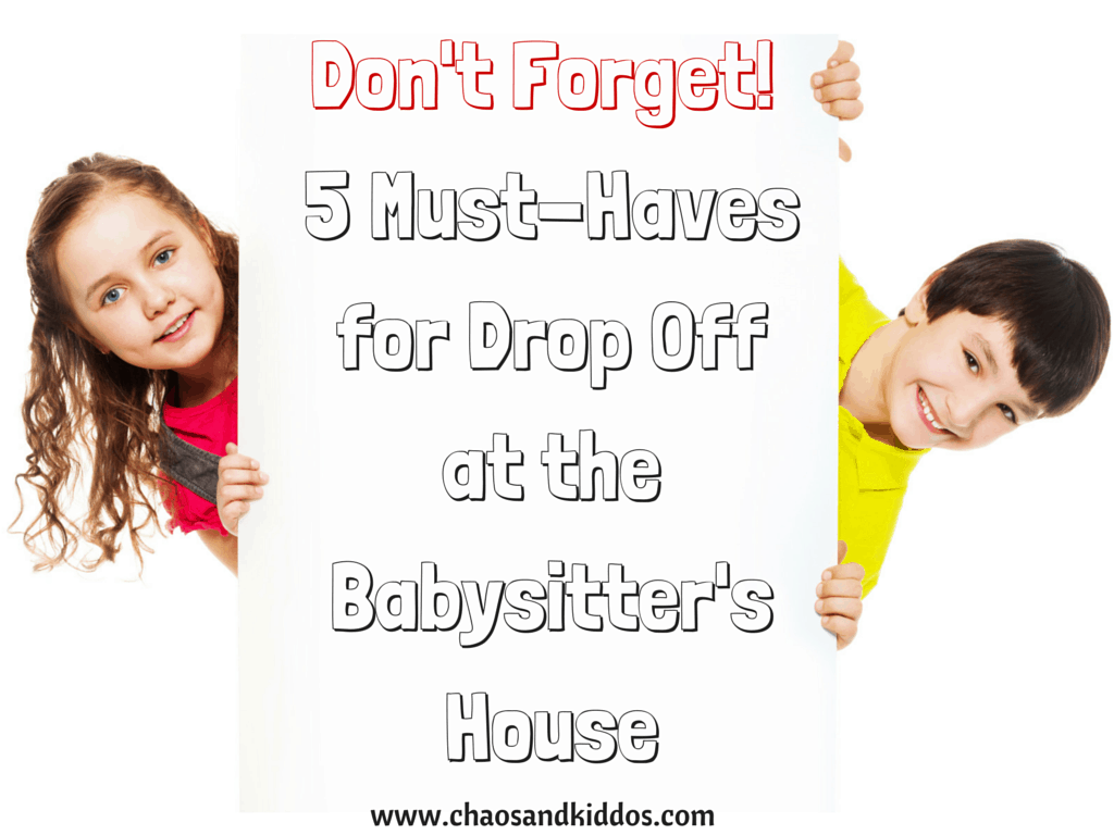 Drop off at the babysitter's house